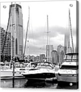 Marina In Black And White Acrylic Print