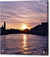 Mia Pervinca Murano Sunset  Acrylic Print