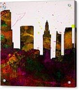Miami City Skyline Acrylic Print