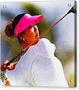 Michelle Wie Hits A Tee Shot Acrylic Print