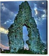 Midley Church Ruins At Dusk Acrylic Print