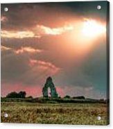Midley Church Ruins At Sunset Acrylic Print