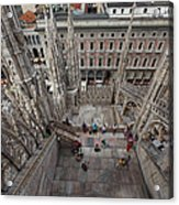 Milan From The Roof Acrylic Print