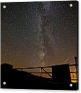 Milky Way Behind The Gate Acrylic Print