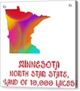 Minnesota State Map Collection 2 Acrylic Print