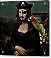Mona Lisa Pirate Captain Acrylic Print