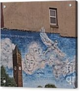 Mural On The Building Acrylic Print