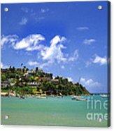 Naguabo Shoreline Acrylic Print by Thomas R Fletcher