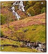 Nant Gwynant Waterfalls Iv Acrylic Print by Maciej Markiewicz