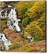 Nant Gwynant Waterfalls V Acrylic Print by Maciej Markiewicz
