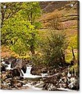 Nant Gwynant Waterfalls Vii Acrylic Print