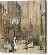 New York From Our Brooklyn Flat Circa 1921 Acrylic Print