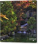 Nishinomiya Japanese Garden - Waterfall Acrylic Print