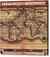 Ortelius World Map -typvs Orbis Terrarvm - 1570 Acrylic Print