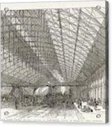 Passengers Await Their Train Acrylic Print