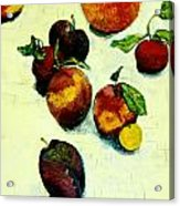 Peaches And Plums Acrylic Print