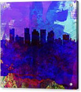 Phoenix Watercolor Skyline 1 Acrylic Print