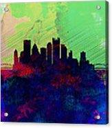 Pittsburgh Watercolor Skyline Acrylic Print