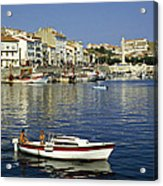 Port Vendres Harbour France 1980s Acrylic Print