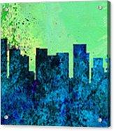 Portland City Skyline Acrylic Print