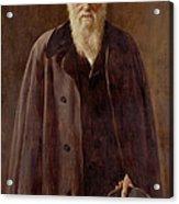Portrait Of Charles Darwin Acrylic Print by John Collier