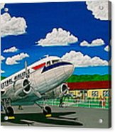 Portsmouth Ohio Airport And Lake Central Airlines Acrylic Print