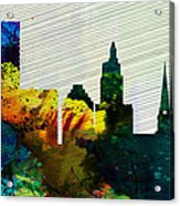 Providence City Skyline Acrylic Print