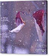 Purple Winter Acrylic Print by Irina Wardas