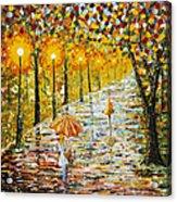 Rainy Autumn Beauty Original Palette Knife Painting Acrylic Print
