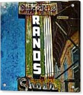 Rands Acrylic Print by Wayne Gill