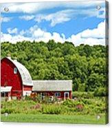 Red Farmstead In Summer Acrylic Print