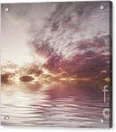 Reflection Of Mauve Skies Acrylic Print