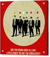 Reservoir Dogs Poster Acrylic Print by Naxart Studio