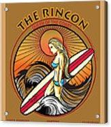 Rincon Ventura California Surfing Acrylic Print by Larry Butterworth