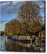 River Thames At Sandford Lock Acrylic Print