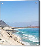 Road And Beaches Of Sao Vicente Cape Verde Acrylic Print