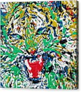 Roaring Enamel Tiger Acrylic Print