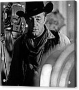 Robert Mitchum Lights Young Billy Young Set  Old Tucson Acrylic Print