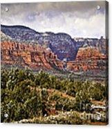 Sedona Arizona In Winter Coat Acrylic Print