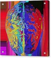Shiny Brain Acrylic Print by Soumya Bouchachi