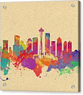 Skyline Of Seattle  Usa Acrylic Print
