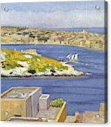 Sliema  A Suburb Of Valletta,  Popular Acrylic Print