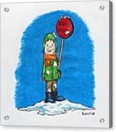 Snowballs Suck Acrylic Print