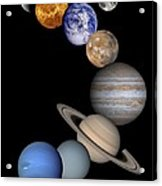 Solar System Montage Acrylic Print by Anonymous