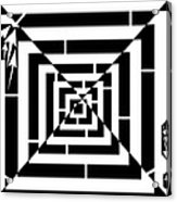 Spin Art Off Set Targeting Maze  Acrylic Print