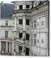 Spiral Staircase In The Francois I Wing - Chateau Blois Acrylic Print