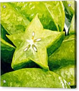 Star Fruit Carambola Acrylic Print