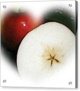 Star In The Apple Acrylic Print
