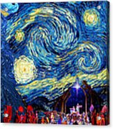 Starry Night In Bethlehem Acrylic Print