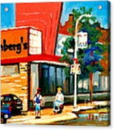 Steinbergs Grocery Store Paintings Vintage Montreal Art Order Prints Originals Commissions Cspandau Acrylic Print